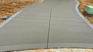 Como poner una entrada de carro de concreto (Paso por paso)//How to put in a concrete car driveway