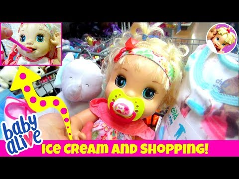 💖 Outing with Lydia! 🛍 Feeding + Walmart Shopping Inspired by Fun With Baby Alive! 🍦