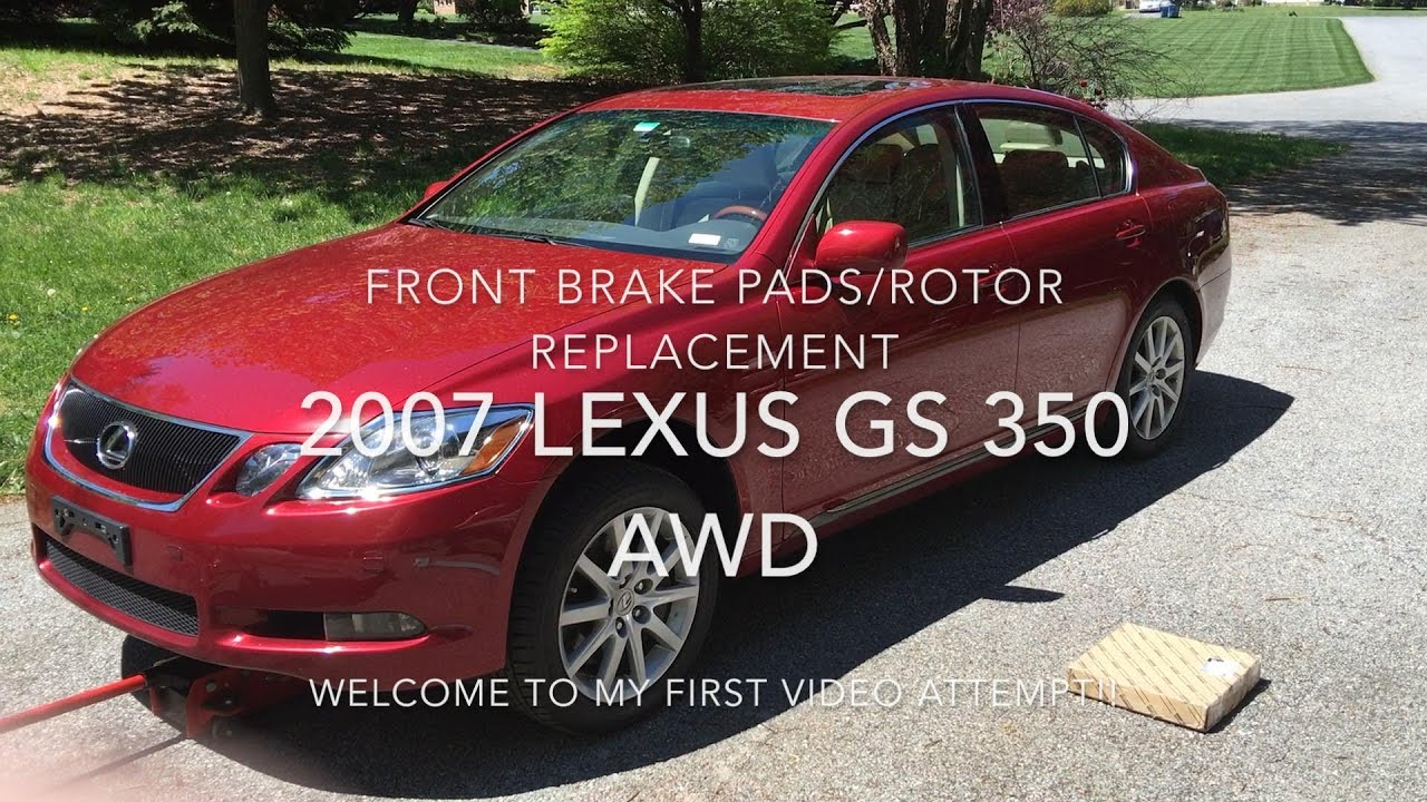 How to replace front brake pads rotors 2007 lexus gs 350 awd youtube