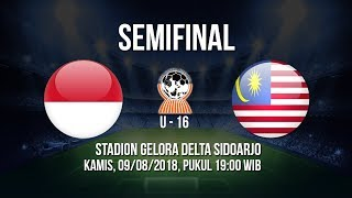 Jadwal Live Semifinal AFF U-16 2018 - Indonesia VS Malaysia, Pukul 19.00 WIB