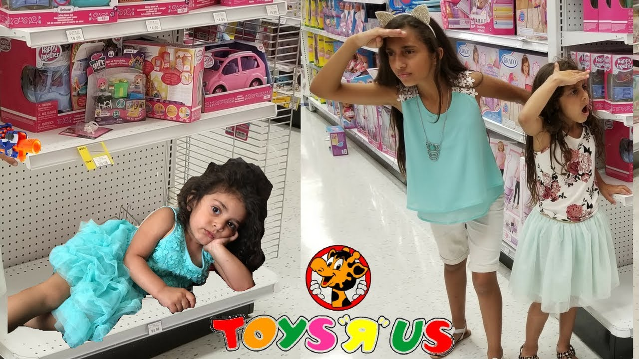 Toys For Sisters : Hide and seek in toys r us sisters fun game youtube