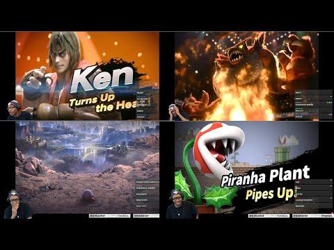 A FIGHTER, A WRESTLER, A PLANT - SSB Ultimate Ken/Incineroar/Piranha Plant/World of Light Reaction