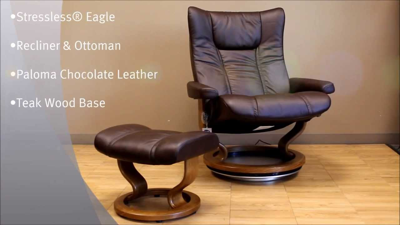Stressless Eagle Recliner Chair And Ottoman Paloma