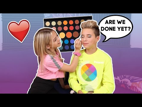Crush Does My Makeup **BAD IDEA* ❤️🎨   Gavin Magnus ft. Coco Quinn thumbnail