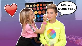 My Crush Does My Makeup Challenge **GONE WRONG** ❤️🎨 | Gavin Magnus ft. Coco Quinn