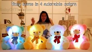 AMAZING LIGHT UP TEDDY BEAR PLUSH TOY