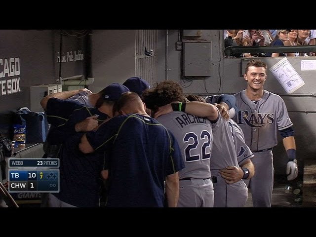 Shaffer's first MLB hit is a solo homer