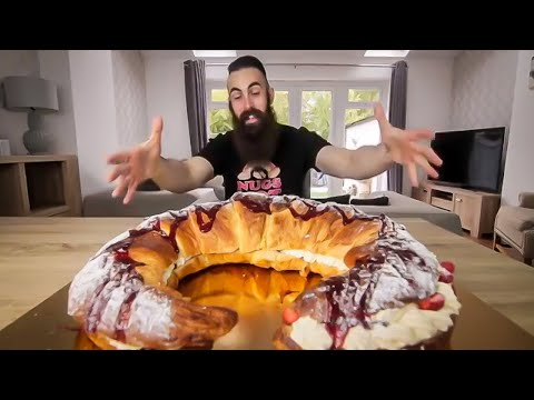 EATING THE BIGGEST CROISSANT IN THE UNIVERSE | BeardMeatsFood