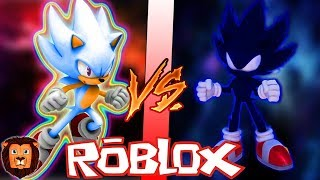 HYPER SONIC VS DARK SONIC IN ROBLOX | BATTLE EPIC CHARACTERS IN ROBLOX