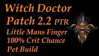 nerfed witch doctor patch 2 2 ptr little mans finger gargantuan pet build diablo 3 reaper of souls