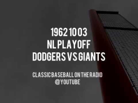 1962 10 03 NL Playoff Dodgers vs Giants Complete Radio Broadcast