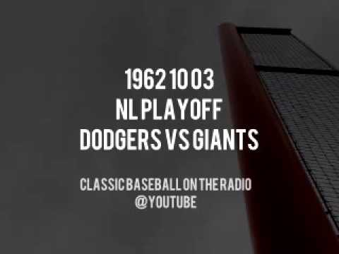 1962 10 03 NL Playoff Dodgers vs Giants Complete Radio Broadcast