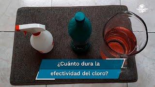 Hacer desinfectantes en casa pueden ser muy efectivos contra cualquier virus o germen si los haces correct.amente; el cloro puede perder efectividad con el paso de los días
