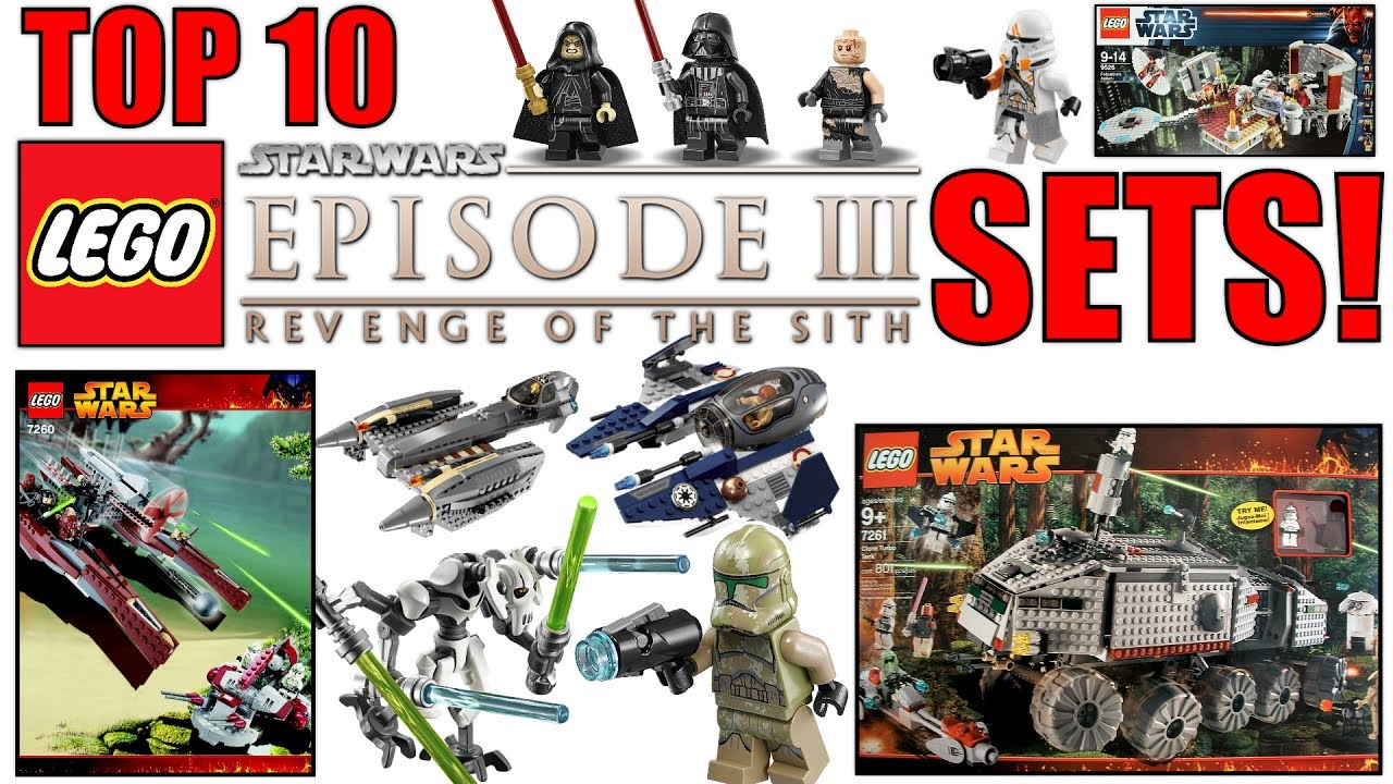 Top 10 Lego Star Wars Episode 3 Sets Revenge Of The Sith Youtube
