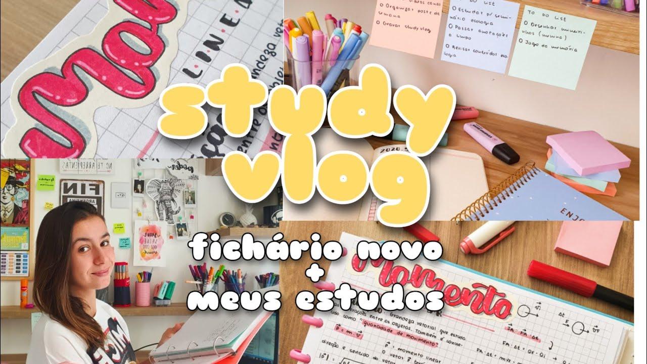 STUDY VLOG | Fichário novo + meus estudos durante a semana | Malena Studies