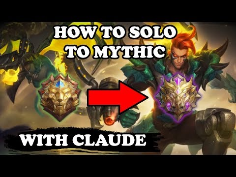 Claude Is The Best MM To Reach Mythic in Solo Q | Mobile Legends Bang Bang thumbnail