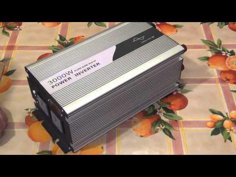 Обзор преобразователя 12-220/3 кВт чистый синус