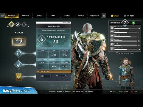 God of War - How to y Upgrade the Leviathan Axe Worthy Trophy Guide
