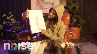 Valee Draws His Self Portrait