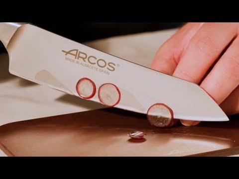 Проверка остроты кухонных ножей Arcos (Аркос)