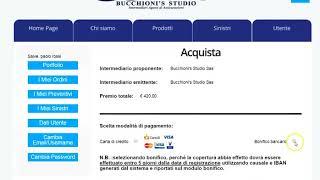 BUCCHIONI'S STUDIO - GUIDA ALLA GESTIONE UTENTE DEL SITO