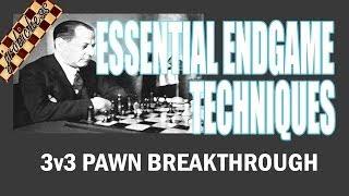 Chess Endgame Study: 3 vs 3 Pawn Breakthrough