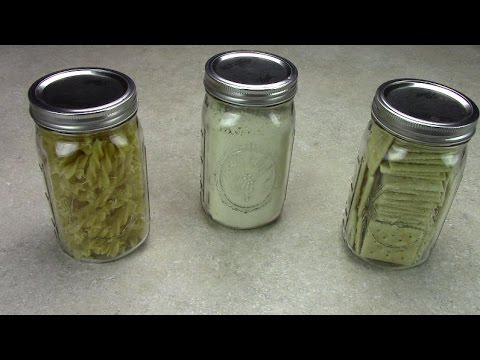 Diy dry canning for long term food storage & Diy dry canning for long term food storage - YouTube