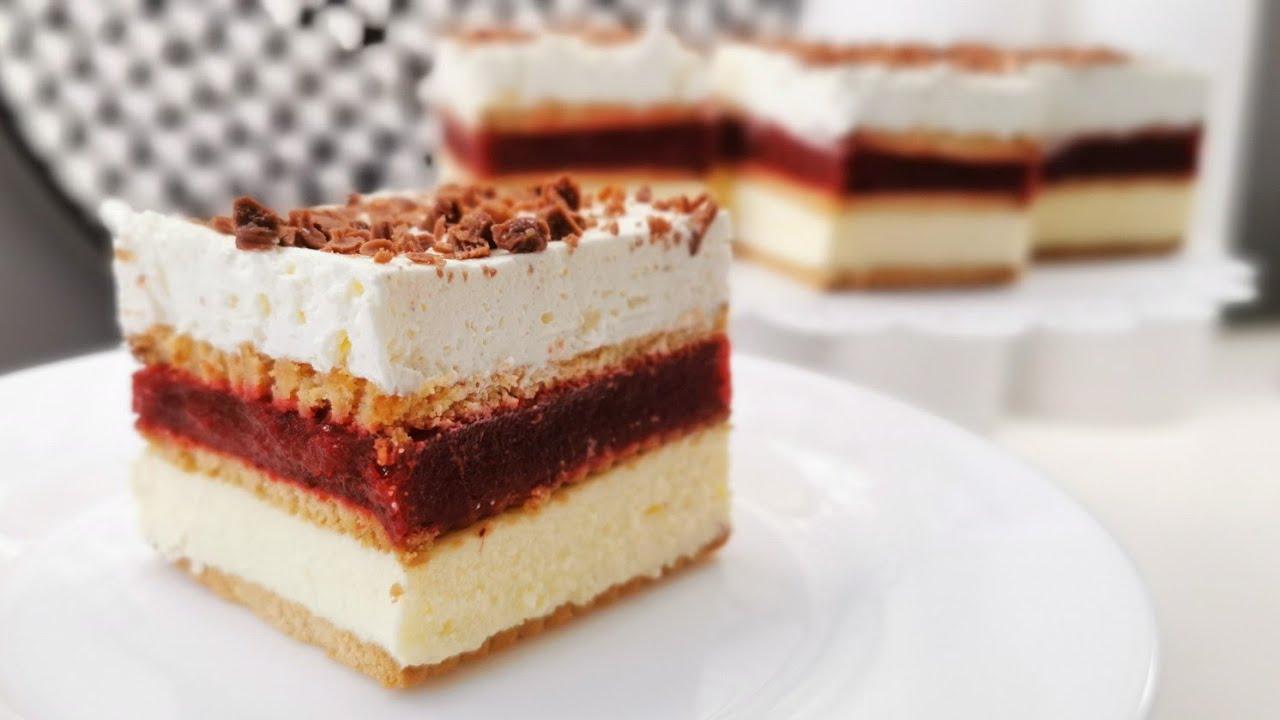 Ciasto 3 Bit truskawkowy bez pieczenia