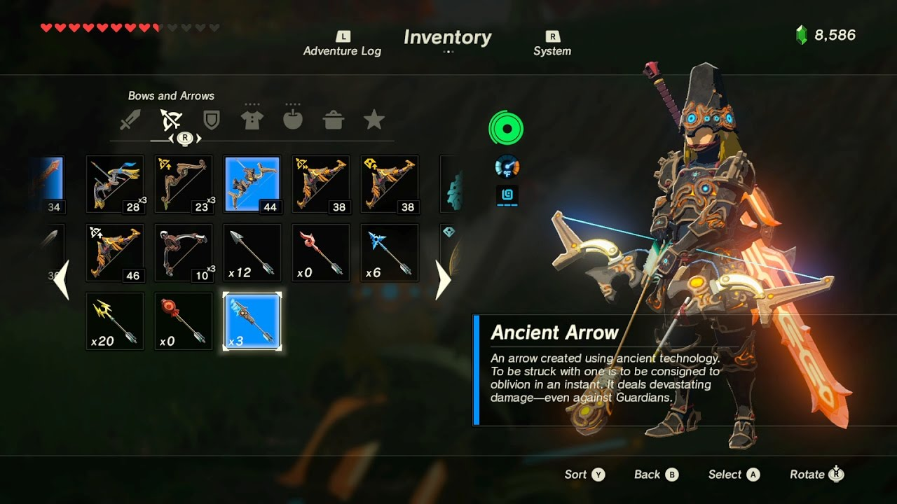 Zelda BotW: How to take a picture of an Ancient arrow for Hyrule Compendium