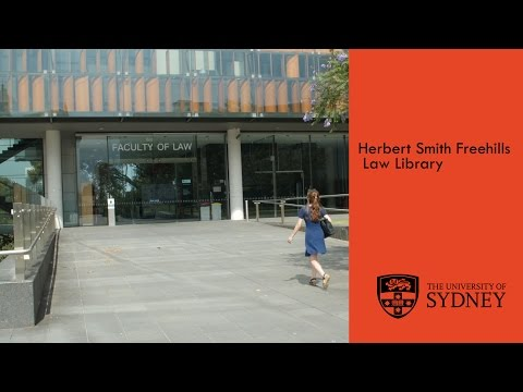 University of Sydney Herbert Smith Freehills Law Library tour