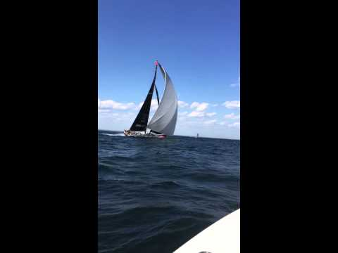 Comanche Super Yacht racing in the 2015 Stamford to Block Island Race