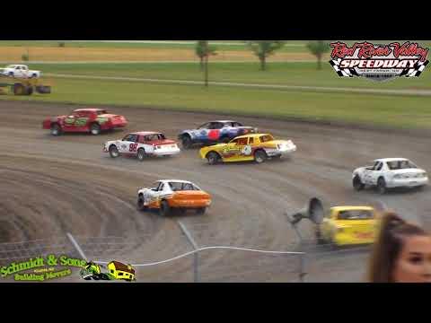 Red River Valley Speedway IMCA Stock Car Heats (8/17/18)