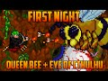 Terraria - Queen Bee & Eye of Cthulhu on the First Night [Speedrun Challenge]