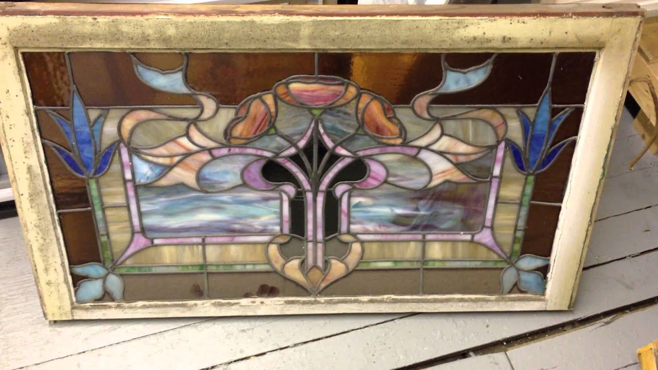 antique stained glass windows ANTIQUE STAINED GLASS WINDOW   YouTube antique stained glass windows