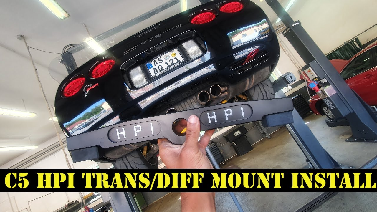 High performance injectors C5 Corvette Diff / Trans mount install & Review