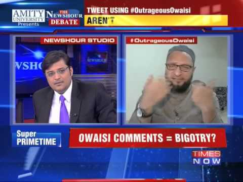The Newshour Debate: Outrageous Asaduddin Owaisi In Conversion Race  - Part 2 (6th Jan 2014)