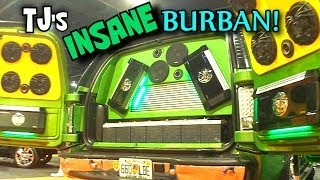 INSANE SOUND SYSTEM w/ 76 Speakers | TJ's 20000 WATT SOUNDSTREAM Build w/ SPLX Subs | SBN Car Audio