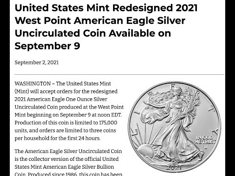 Silver American eagles are back at US Mint with anti coungerfeiting & higher premiums