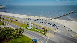 Aerial View of Lighthouse - Biloxi, MS