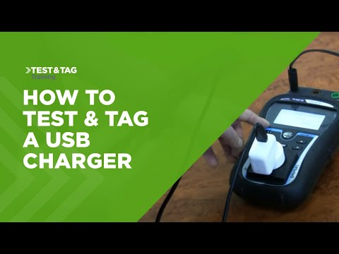 Testing & Tagging A USB Charger