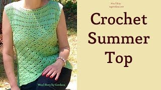 Summer Top - Crochet Lace Blouse (Heklana letnja bluza)