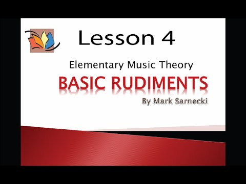 Music Theory Lesson 4