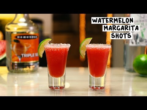 Watermelon Margarita Shots