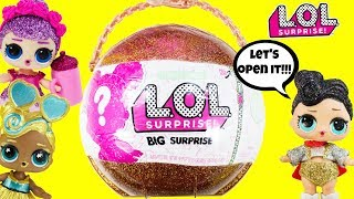 LOL SURPRISE BIG SURPRISE FULL UNBOXING with The Queen, Custom Sugar Queen, and DJ Luxe