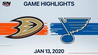 NHL Highlights   Ducks vs. Blues – Jan. 13, 2020