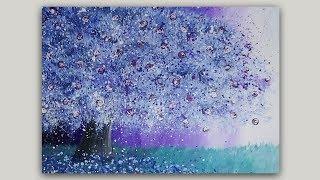 Surreal Fantasy Tree Acrylic Painting Landscape #SpeedPainting #FantasyArt