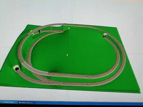 Plans for the new layout for portable model railroad