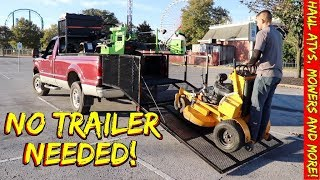 ATV / Lawnmower Trailer Inside the bed a truck ?!? - Eliminates having a separate trailer