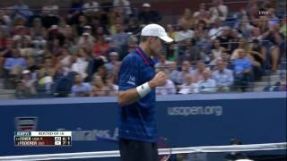 Isner Vs Federer Us Open 2015 4th round