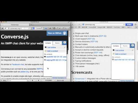 Jabber2+Converse.js IM Demo YouTube
